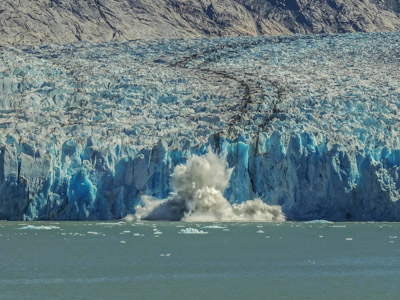 Photo Note Card: Dawes  Glacier Calving, upper Endicott Arm of Holkham Bay, in the Inner Passage of southeast Alaska
