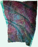 Quilted art - wall hanging: Flow