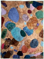 Quilted art - wall hanging: Earthstones