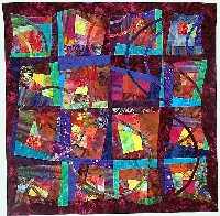 Quilted art - wall hanging: Breaking the Block