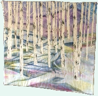 Quilted art - wall hanging: Aspen Series 2, winter